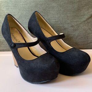 Used - Shoedazzle - Mary Jane Wedges - Black